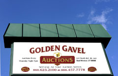 Golden Gavel sign